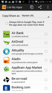 Nainstalujte a spusťte aplikaci List My Apps
