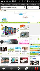Webový prohlížeč Opera Mini