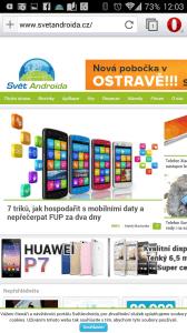 Prohlížeč Opera pro Android