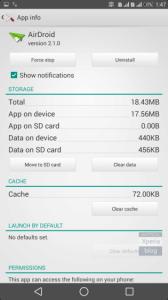 Možnost přesunu aplikace