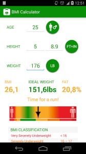 BMI Calculator 3 android aplikace