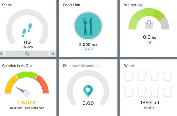 Fitbit Aria recenze - Fitbit dashboard