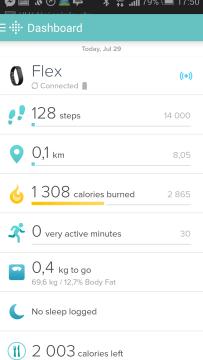 Fitbit Aria recenze - mobilní aplikace