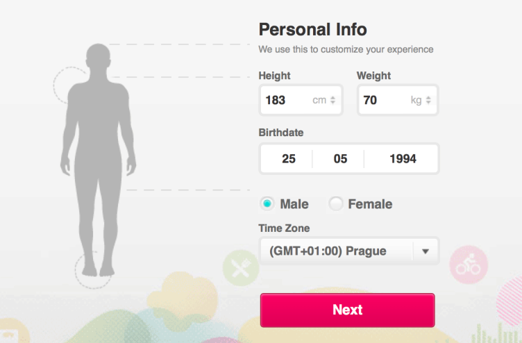 Fitbit Aria recenze - profil