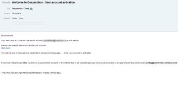 Potvrzující e-mail