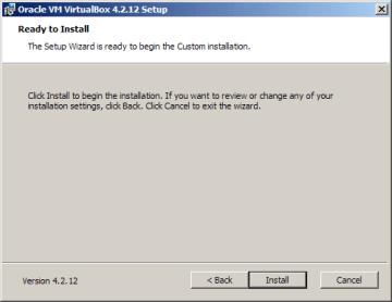 Instalace VirtualBoxu: zahájení instalace