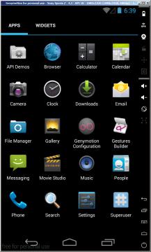 Virtuální stroj: Sony Xperia Z s Androidem 4.3