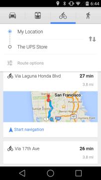 Google Maps cyklistika 1