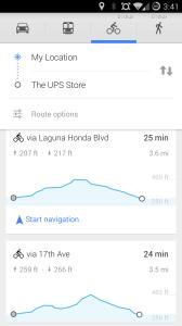 Google Maps cyklistika 3