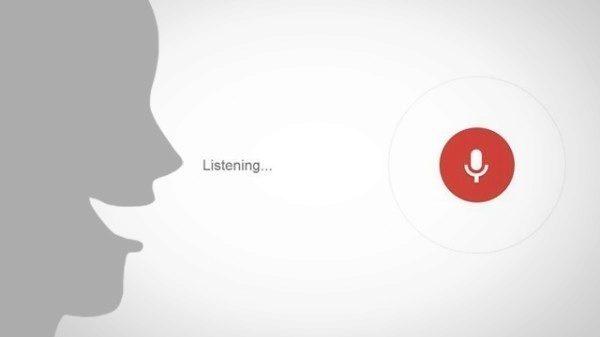 Google Search hlasové povely