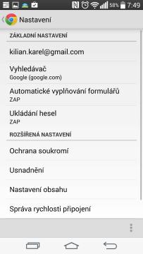 Webový prohlížeč Chrome