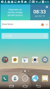 LG G3 - domovská obrazovka