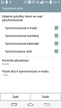 Aplikace E-mail