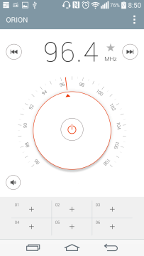 Aplikace FM Rádio