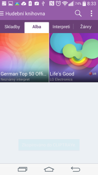 Aplikace Hudba - alba