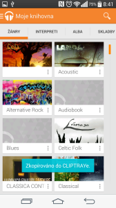 Aplikace Hudba Play - žánr