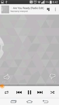 Aplikace Hudba Play - přehrávač