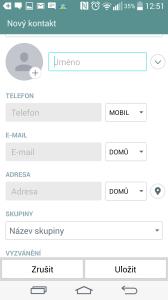 Podrobnosti kontaktu