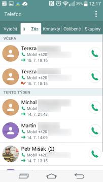 Historie volání