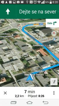 Mapy - navigace
