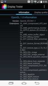 Parametry obrazovky telefonu LG G3