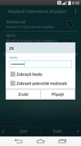 Úvodní nastavení - připojení k Internetu