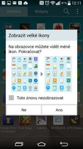 Seznam aplikací - velké ikony