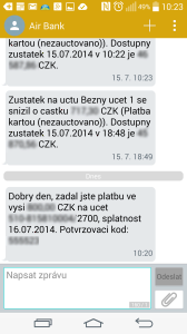 SMS zprávy