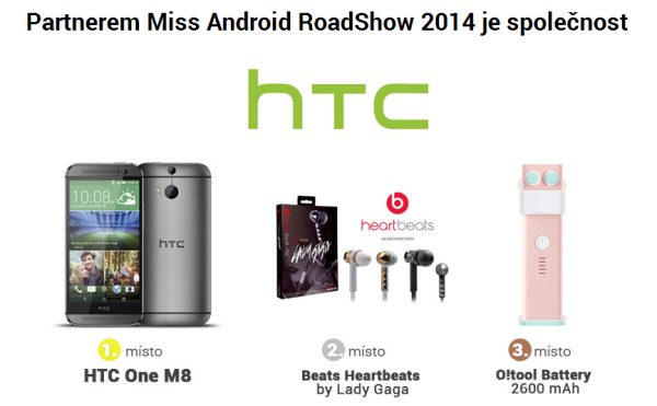 miss android roadshow 2014 - ceny