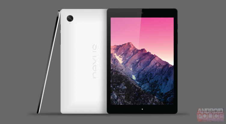 Jeden z renderů tabletu Nexus 9 (HTC Volantis)