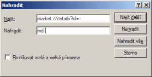 Nahraďte market://details?id= příkazem