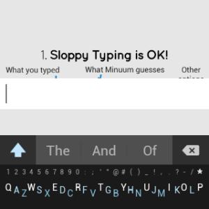Samsung Gear Live apliakce Minuum Keyboard 1