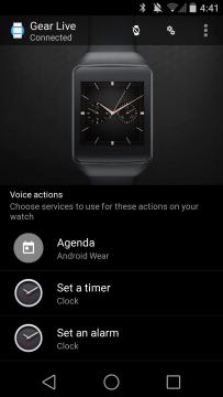 Samsung Gear Live aplikace Android Wear 1