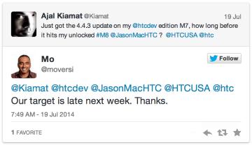 HTC One M8 aktualizace