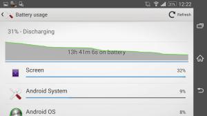 Sony Xperia Z2 střední zátěž baterie 2