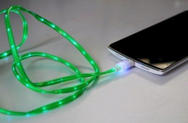 svítící USB kablík