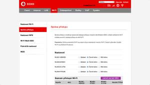 Vodafone Turbo Internet nastavení modemu 12
