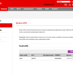 Vodafone Turbo Internet nastavení modemu 5