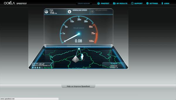 Vodafone Turbo Internet test rychlsoti 4