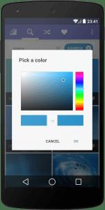 Hledání tapet podle barvy