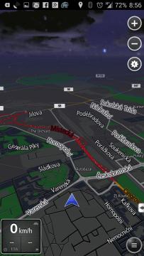 Navigace v nočním režimu