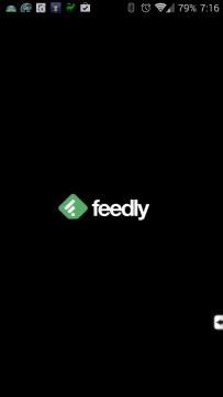 Úvodní obrazovka aplikace Feedly