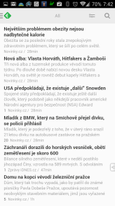Prostý seznam článků