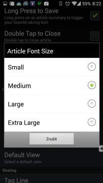 Velikost písma článků