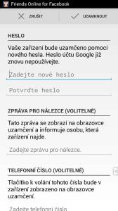 Uvedenou funkci nabízí také mobilní aplikace Správce zařízení Android