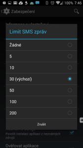 Android 4.3 přinesl limit SMS zpráv odeslaných z aplikace