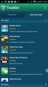 Sekce App Manager