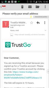 E-mailové potvrzení účtu
