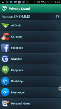 Aplikace s přístupem k SMS