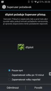Aplikace se dožaduje práv roota